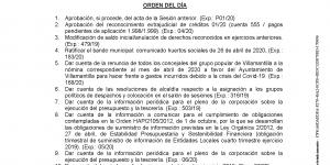 Convocatoria de Pleno Ordinario del Ayuntamiento de Villamantilla - 24 de junio de 2020