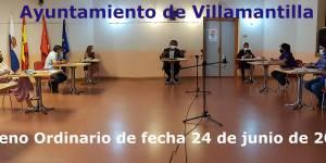 Vídeo del Pleno Ordinario del Ayuntamiento de Villamantilla - 24 de junio de 2020