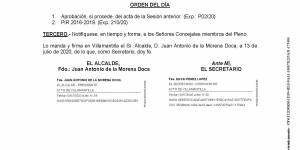 Convocatoria de Pleno Extraordinario del Ayuntamiento de Villamantilla - 16 de julio de 2020