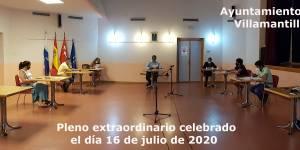 Vídeo del Pleno Extraordinario del Ayuntamiento de Villamantilla - 16 de julio de 2020