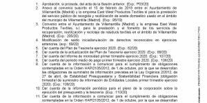 Convocatoria de Pleno Ordinario del Ayuntamiento de Villamantilla - 30 de julio de 2020