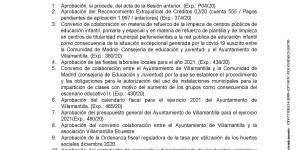 Convocatoria de Pleno Ordinario del Ayuntamiento de Villamantilla - 29 de diciembre de 2020