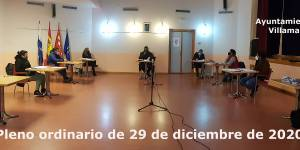 Vídeo del Pleno Ordinario del Ayuntamiento de Villamantilla - 29 de diciembre de 2020