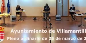 Vídeo del Pleno ordinario del Ayuntamiento de Villamantilla - 25 de marzo de 2021