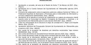 Vídeo del Pleno extraordinario del Ayuntamiento de Villamantilla - 11 de marzo de 2021