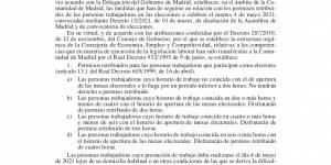 Regulación permisos retribuidos para participar en las elecciones autonómicas del 4 de mayo