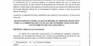 Concurso-oposición para la cobertura de una plaza de Conserje-Vigilante