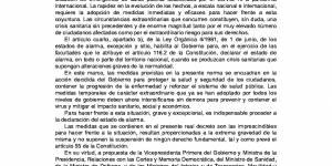 Real Decreto 463/2020, de 14 de marzo, por el que se declara el estado de alarma para la gestión de la situación de crisis sanitaria ocasionada por el COVID-19
