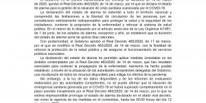 Real Decreto de sábado 28 de marzo, por el que se prorroga el estado de alarma hasta las 00:00 horas del día 12 de abril de 2020